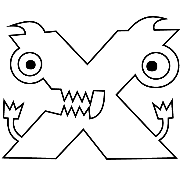 Letter X Coloring Page Babadoodle