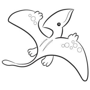 #3 Pterodactyl Dinosaur Coloring Page (free)