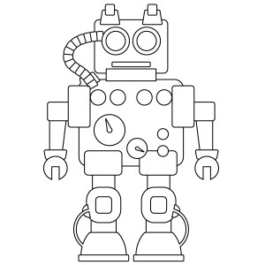 #4 Reggie Robot Coloring Page (free)