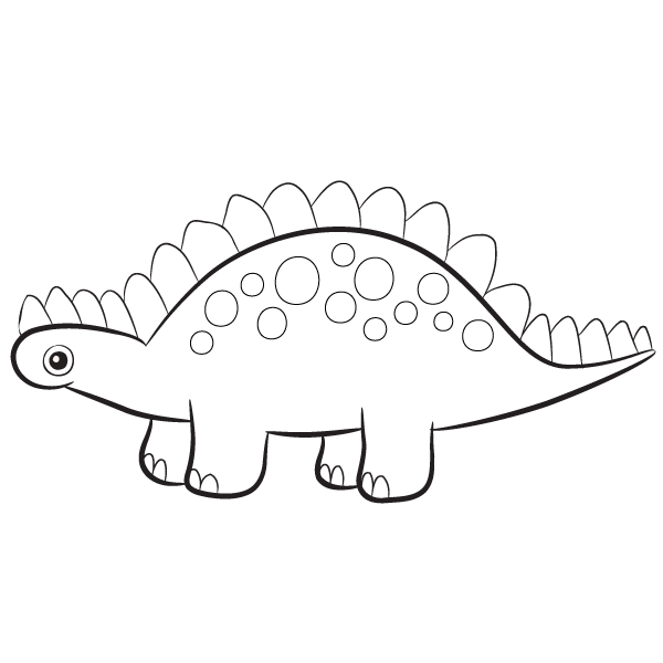 - Stegosaurus Coloring Page – Babadoodle