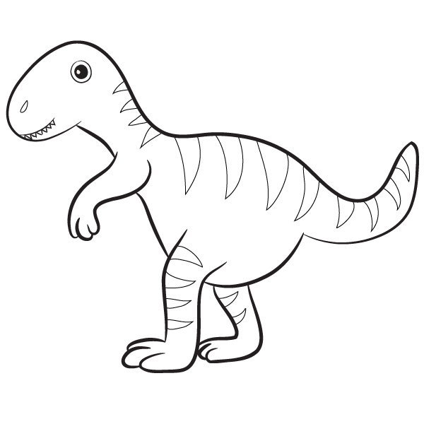 - T-Rex Coloring Page – Babadoodle