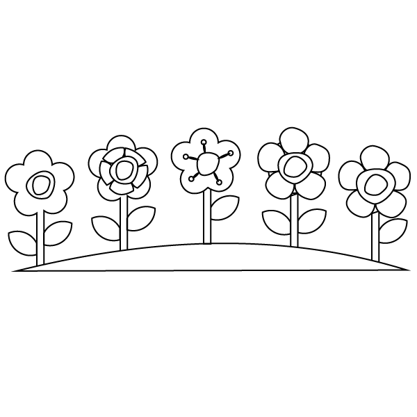 Flower Garden Coloring Page – Babadoodle