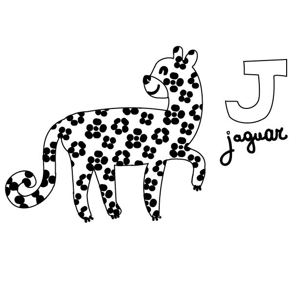 J For Jaguar Coloring Page Babadoodle
