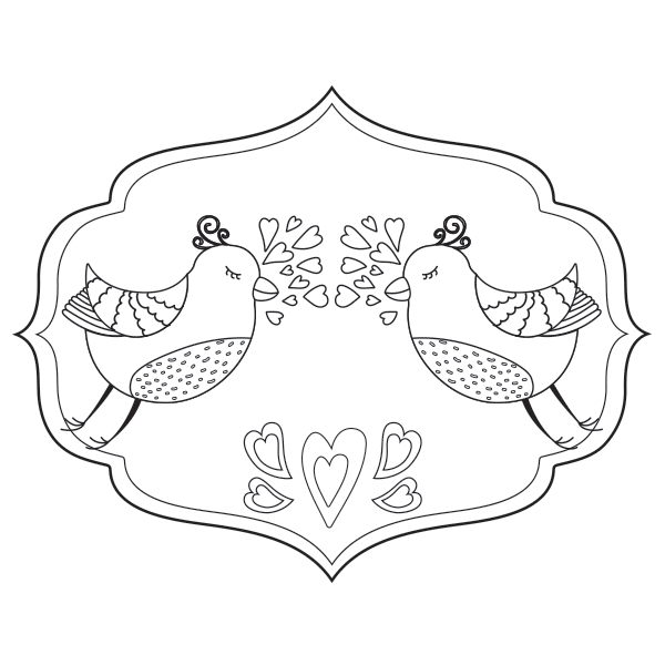 Love Birds Coloring Page Babadoodle