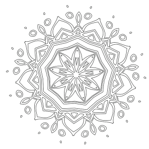 Mandala Coloring Page 36