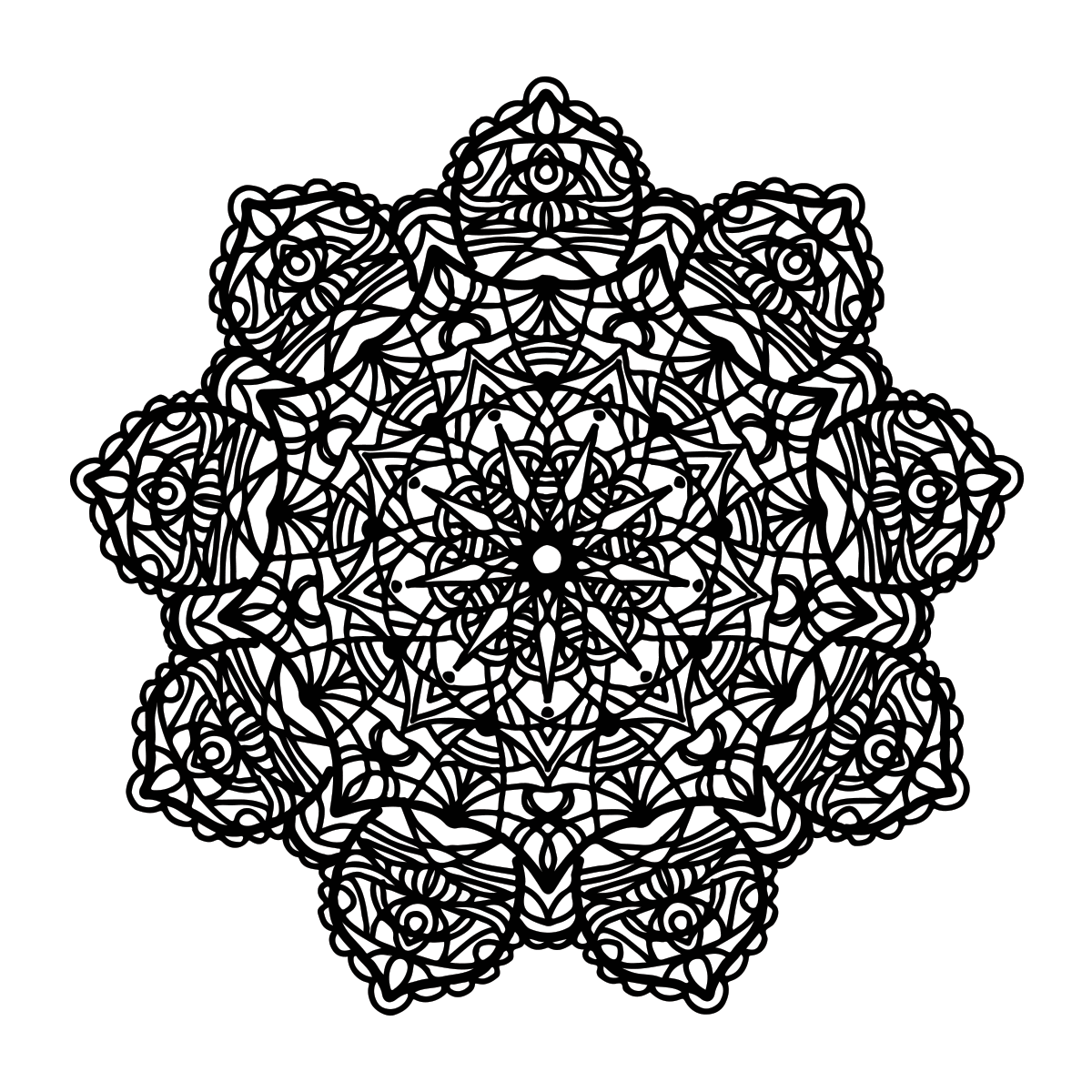 Mandala Coloring Page LT3