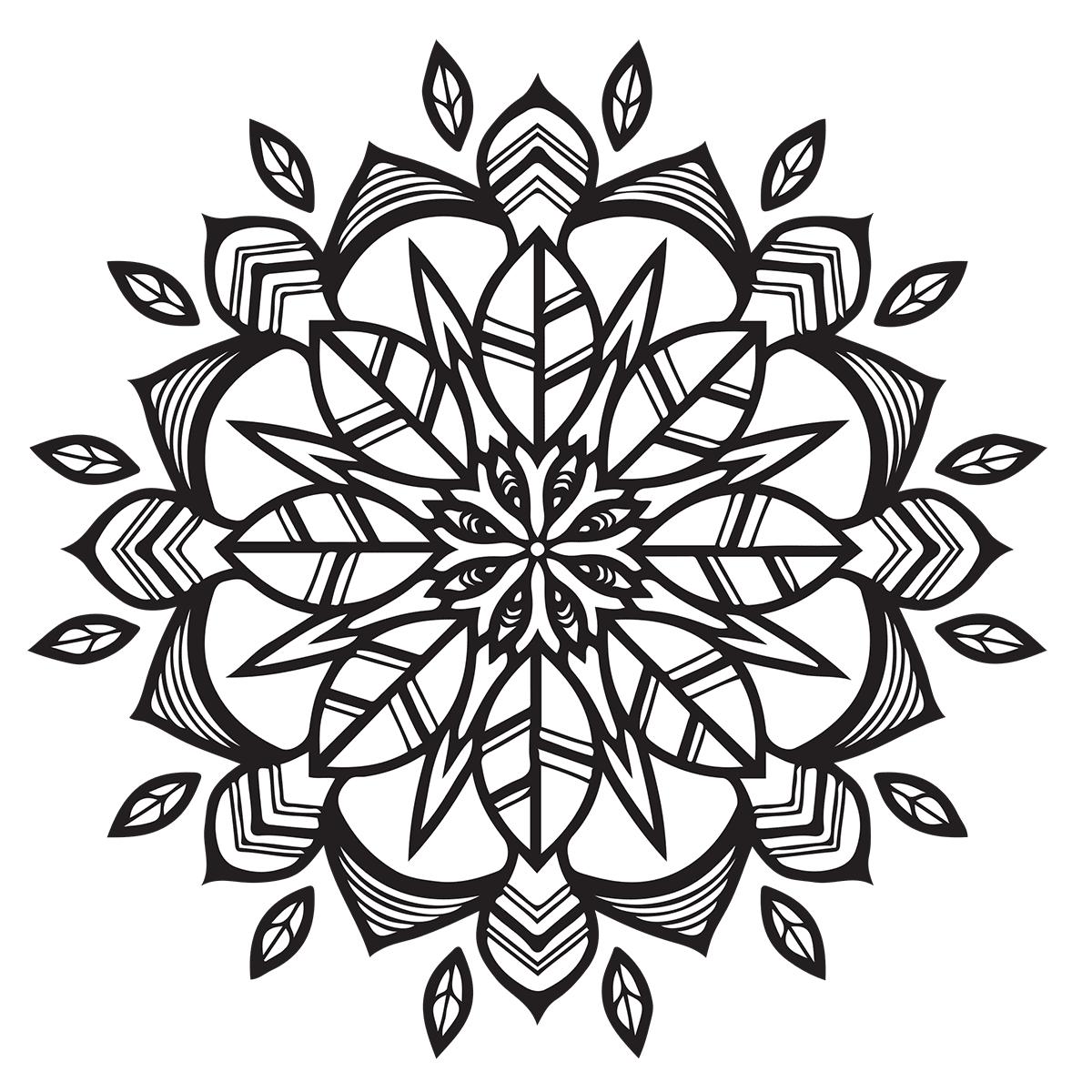 Modern Mandala Coloring Page - Babadoodle