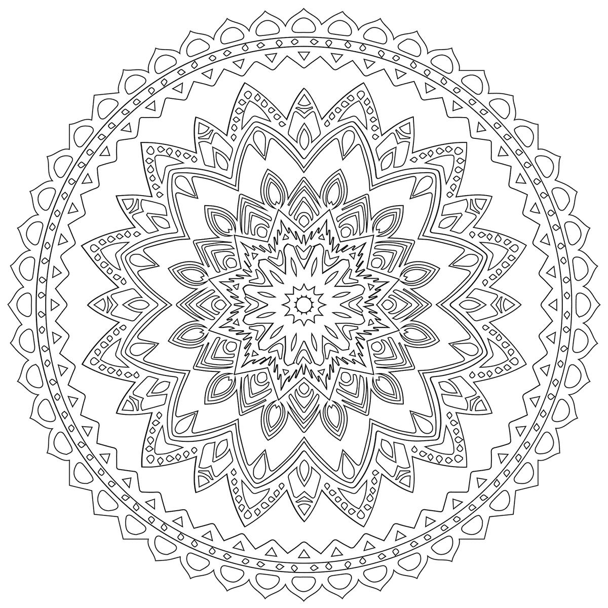 Free Mandala Coloring Babadoodle